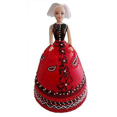 Strawberry Baby Doll Cake
