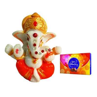 Lord Ganesh Idol with Celebration