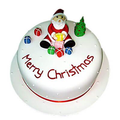 Merry Christmas Pineapple Cake
