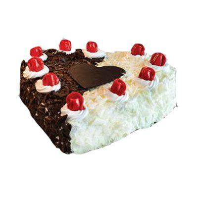 Dual Forest Heart Shape Cake