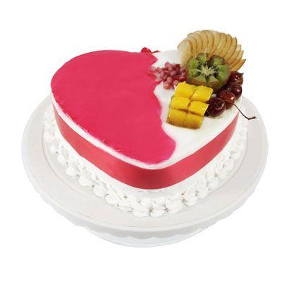 Heart Shape Pineapple Fruit Cake