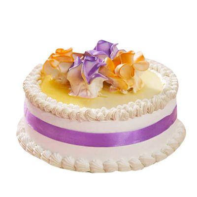 Ribbon Vanilla Cake