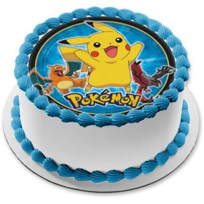 Pineapple Pokemon Round Cake