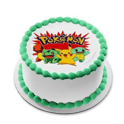Pokemon Round Cake