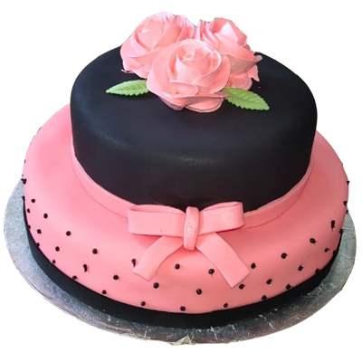 Eggless 2 Tier Marvoulous Fondant Cake