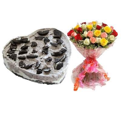 Heart Oreo Cake & Mix Roses
