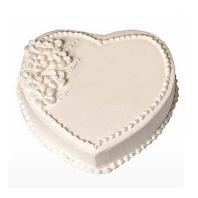 Eggless Heart Vanilla Cake