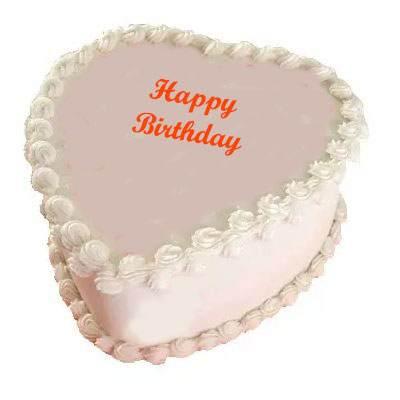 Eggless Heart Butterscotch Cake