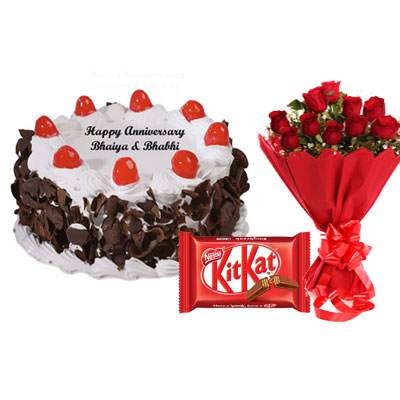 Black Forest Cake, Bouquet & Kitkat