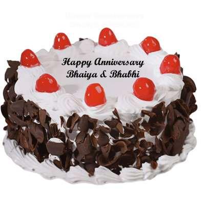 Bhaiya Bhabhi Anniversary Black Forest Cake