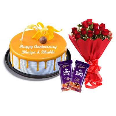 Butterscotch Cake, Bouquet & Silk