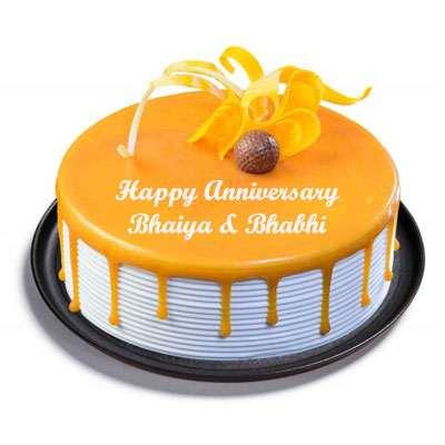 Bhaiya Bhabhi Anniversary Butterscotch Cake