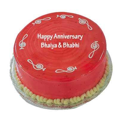 Anniversary Strawberry Cake
