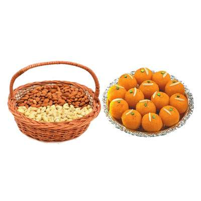 Almonds, Cashew & Laddu