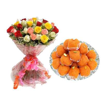 Mix Roses with Laddu