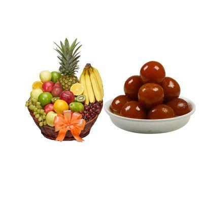 Fruit Basket & Gulab Jamun