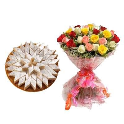 Kaju Burfi & Bouquet