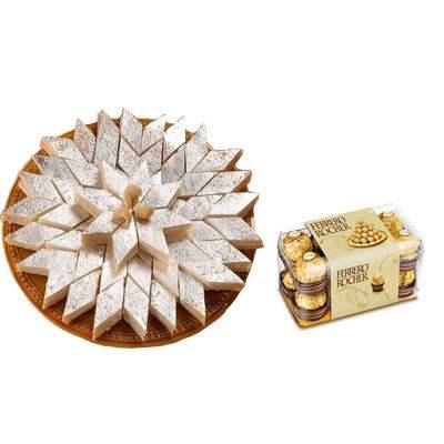 Kaju Burfi & Ferrero Rocher