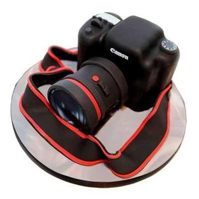 Camera Fondant Cake