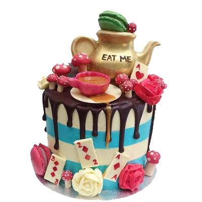 Alice in Wonderland Fondant Cake