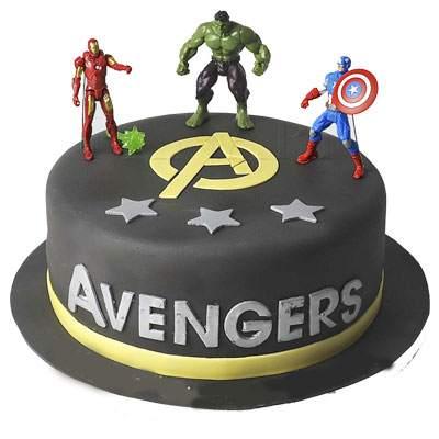 The Avengers Fondant Cake