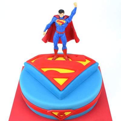 The Superman Fondant Cake