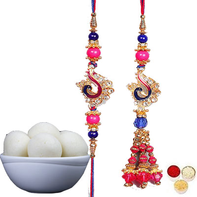Lumba Rakhi For Brother Bhabhi With Rasgulla