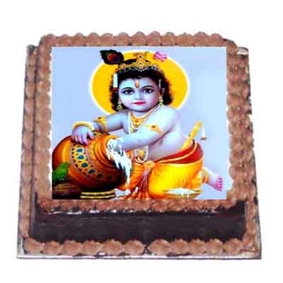 Krishna Chocolate Photo Cake