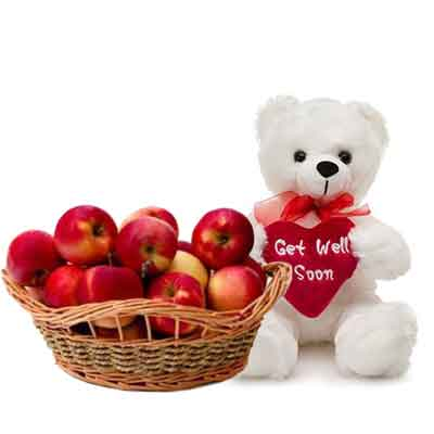 Apple Basket With Teddy