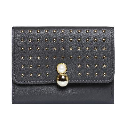 Women Designer Party Wallet Gray