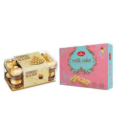 Haldiram Milk Cake with Ferrero Rocher