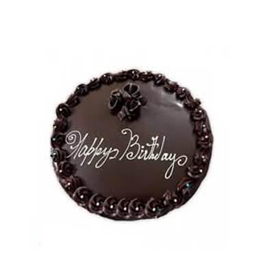 Happy Birthday Dark Chocolate Cake