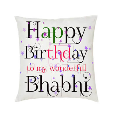 Happy Birthday Bhabhi Cushion