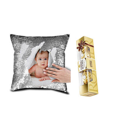 Christmas Magic Cushion with Ferrero