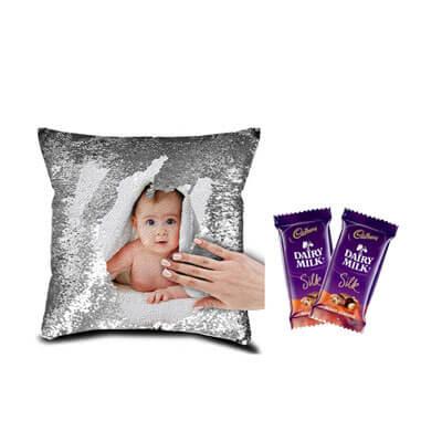 Xmas Magic Cushion with Silk