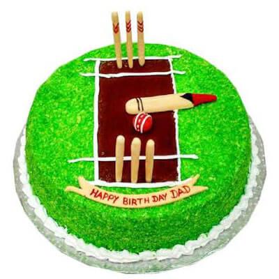 Cricket Pitch Theme Cake