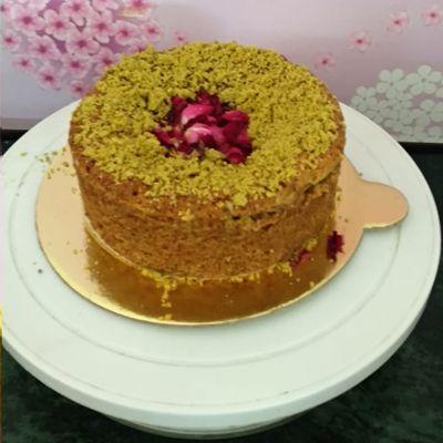 Rose Pista Cake