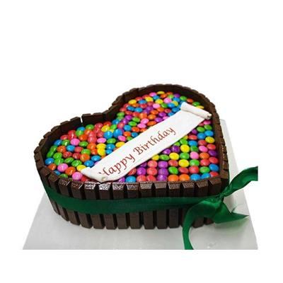 Heart Shape Kitkat Cake