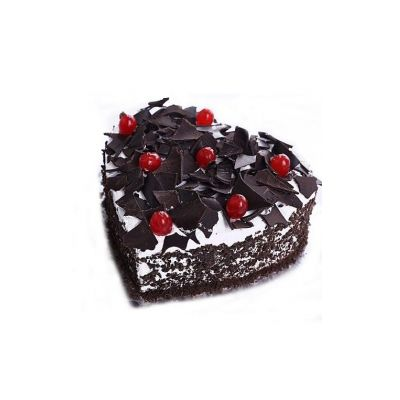 Delicious Heart Shape Black Forest Cake