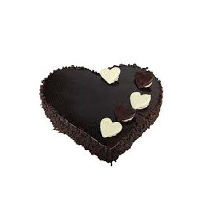 Exotic Heart Shape Chocolate Cake