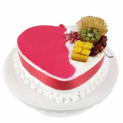 Delicious Heart Shape Pineapple Cake