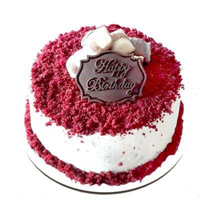 Happy Birthday Special Red Velvet Cake