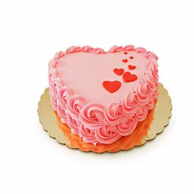 Floating Heart Strawberry Cake