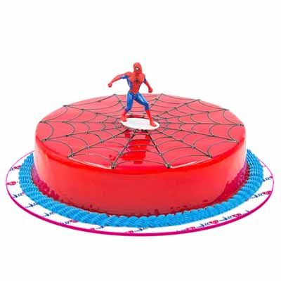 Spiderman Strawberry Cake