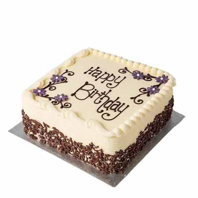 Vanilla Sponge Square Cake