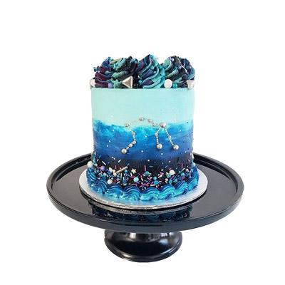 Aquarius Buttercream Fondant Cake
