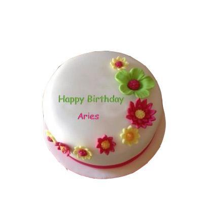 Aries Pineapple Flower Cake