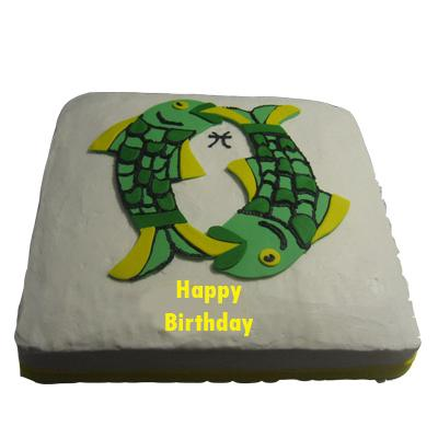 Fondant Cake For Gemini Zodiac Sign