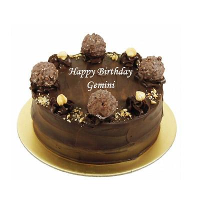 Ferrero Rocher Cake For Gemini Zodiac Sign