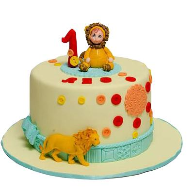 Butterscotch Fondant Cake For Leo Zodiac Sign